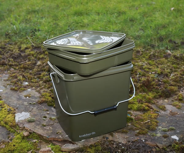 TRAKKER 13L OLIVE SQUARE BUCKET INCL TRAY